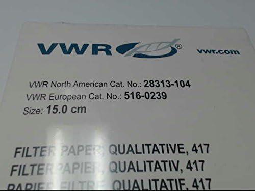 Model 28313-104 Qualitative Model 28313-104 VWR Grade 417 Filter Paper Crepe Pack of 50