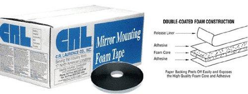 CRL 1/16'' x 3/4'' Black All-Purpose Foam Mounting Tape