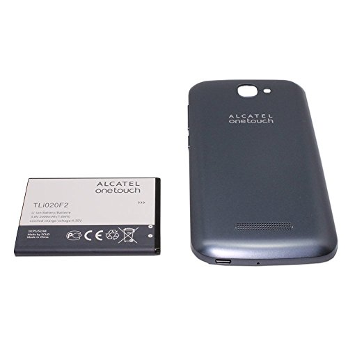 OEM Alcatel One Touch 7040T Fierce 2 TLi020F2 Battery and Light Blue Door Cover Back (One Touch Alcatel Fierce Parts)