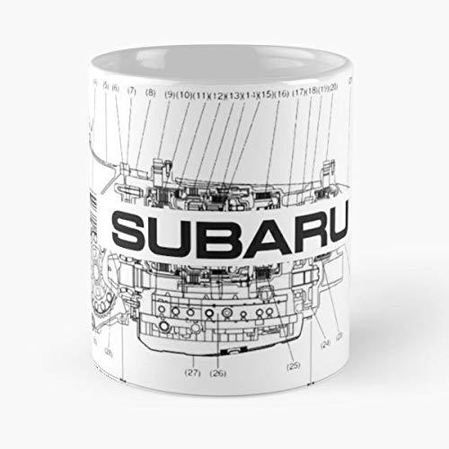 Subaru Wrx Sti Race - Coffee Mug 11 Oz Funny Gift