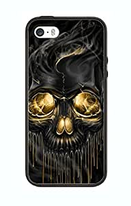 Case Skull Ghost Art Cover for Iphone 4/4s SK6 Border Rubber Silicone Case Black@pattayamart