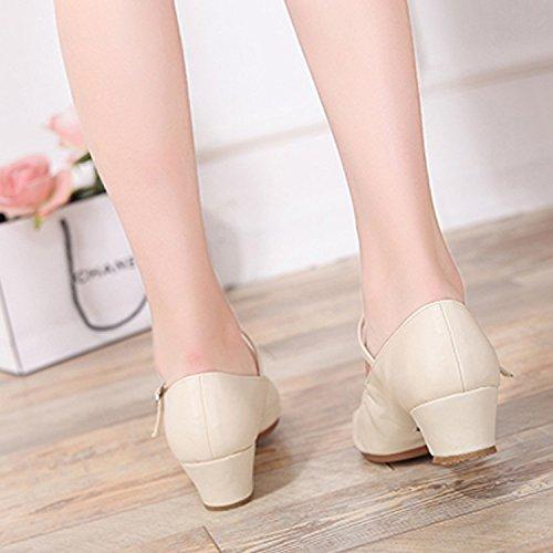 Blanc Salon Souple Été CHNHIRA Chaussure de de Semelle à Talon Chaussure Danse Femme Danse Gros de wZgqOw