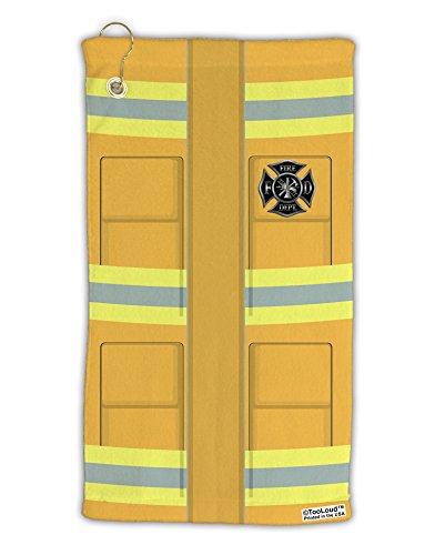 TooLoud Firefighter Yellow AOP Micro Terry Gromet Golf Towel 16