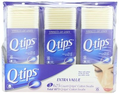 10 Wholesale Lots 3 Pack Q-Tips Cotton Swabs 1875 Count, Total 18,750 Cotton Swabs by SSW Wholesalers