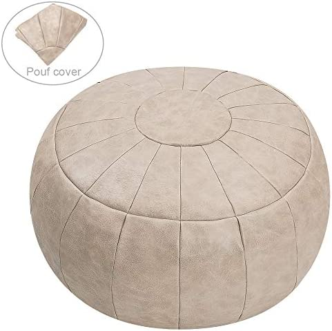 ROTOT Unstuffed Pouf Cover, Ottoman, Bean Bag Chair, Foot Stool, Foot Rest, Storage Solution or Wedding Empty New Mushroom