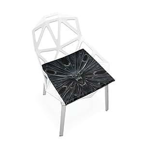 PLAO - Cojín de asiento suave, cojín para silla con diseño de mal de frío, antideslizante, para decoración del hogar, patio, muebles, comedores, dormitorios, 40 x 40 cm