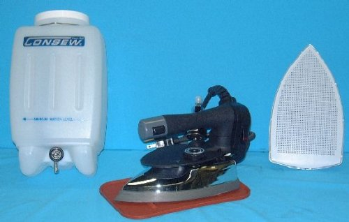 Consew CES-300 Gravity Feed Industrial Steam Iron Set by CONSEW