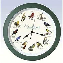 Audubon Singing Bird Clock - 13 Green