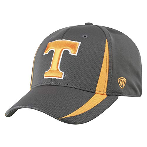 Top of the World NCAA Tennessee Volunteers Men's Performance Fitted Charcoal Triumph Icon Hat, -