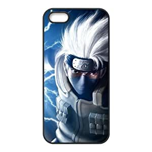 funda iPhone G1U12 Naruto S4V8GM funda de caso 5 5s teléfono celular cubren PI6VHE8NC negro