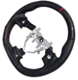 GOGOCARBON D-Shaped Carbon Steering Wheel with Red