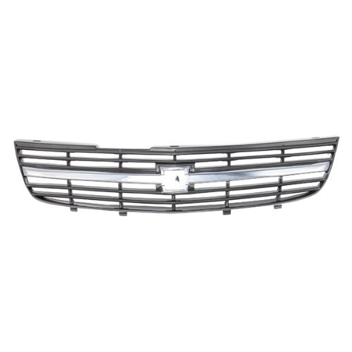 CarPartsDepot, Front Grille Grill Chrome Molding Painted Black Insert Replacement, 400-15737-B GM1200428 10289769