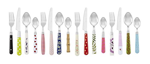 Gypsy Color Mix and Match Lifestyle Cutlery and Eating Utensils Gift Set of 16 pieces, Colorful Flatware Set Multicolor Eclectic Collection by Gypsy Color (Image #1)