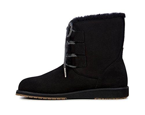 Boots Australia W11657 6 Illawong Black UK Women's Beach Emu Collection Sheepskin B0RqnS
