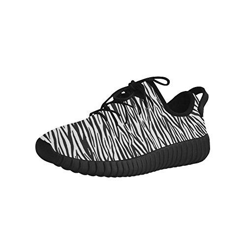 D-story Custom Zebra Stripes Dames Ademende Geweven Loopschoenen Voor Dames (model 022)