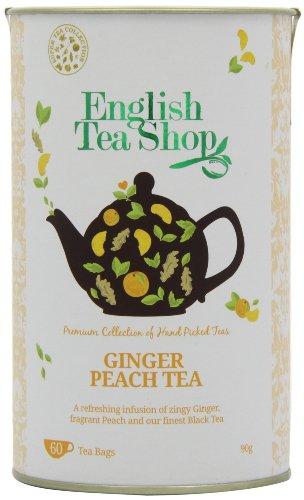 English Tea Shop Super Ginger Peach - 60 Tagged Tea - Tea Ginger Peach