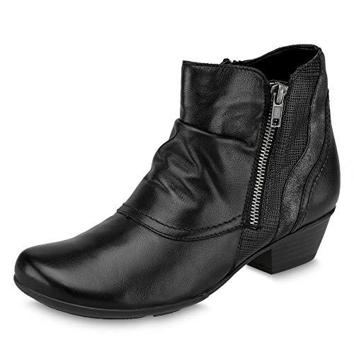 R1475 Damen Stiefel Remonte Schwarz Kurzschaft x06qw6adY