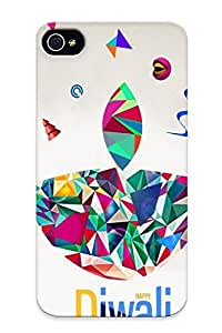 Fashion Protective Happy Diwali Case Cover Design For Iphone 4/4s