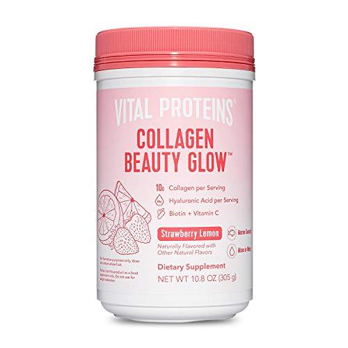 Vital Proteins Collagen Beauty Glow, Marine-Based Collagen Peptides Supplement – 10g of Collagen Per Serving…
