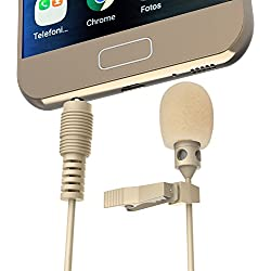 FanRos Professional Lavalier Clip-on Condenser Recording Microphone - Beige