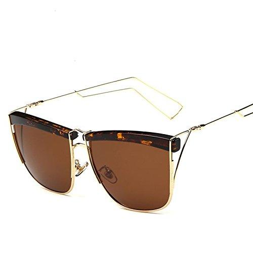 Classic Hommes Beach Lunettes Party Framed Uv400 Retro Trend soil Gold Soleil Personnalité Mode LANZHI de Confort Polarizer Iw00v