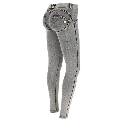 Bassa Chiaro up® Freddy Vita Pantalone cuciture Denim Lavaggio Wr Grigio Jeans Gialle Effetto 88qIU