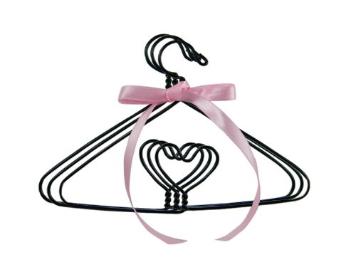 Wire Heart Hangers (Set of 3) by Sophia's for 18 Inch Doll Clothes & American Girl