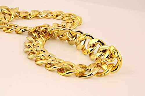 "JIL Big Chunky Hip Hop Chain Necklace,32"",36"" 4"