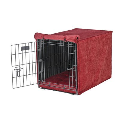 Luxury Crate Cover Size: X-Large (30'' H x 28'' W x 42'' L), Color: Berry