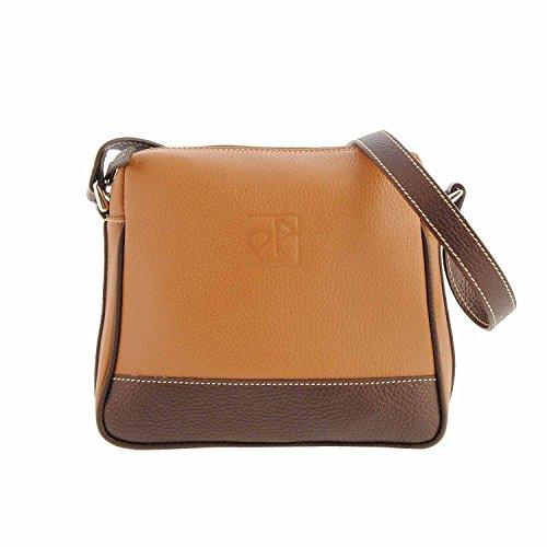 Sac en cuir carré avec bandoulière Mesures: U Couleur: Cuero / marron