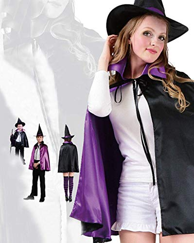 Superex Ostern Festival Halloween Magic Vampire Wicked Witch Kids Costume Fancy Dress Party Cloak and Hat (Purple Black)