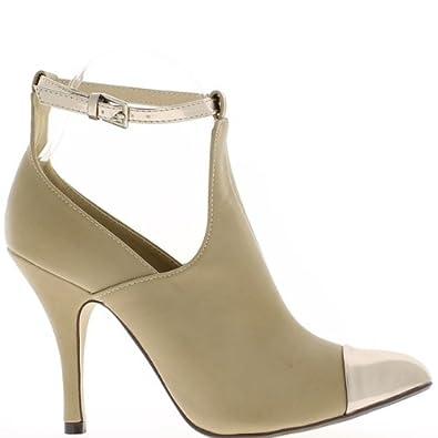 Low-Boots Beige scharfe Frau in heels 10cm - 41 JL0naLd