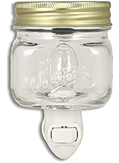 Amazon.com: Mason Jar Plug In Fragrance Wax Warmer Blue by Tuscany ...