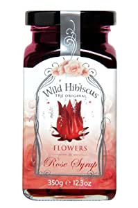 WILD HIBISCUS FLOWER COMPANY Syrup, Rose, 12.3 fluid ounce