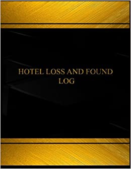 hotel lost and found log book journal 125 pgs 8 5 x 11 inches
