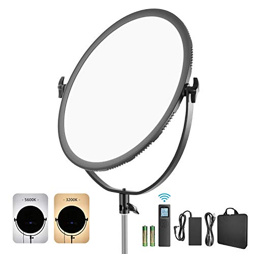 Neewer LED Bi-Color Studio Round Lighting, Ultra Thin Studio Edge Flapjack Light, 21-Inch 70W Dimmable Portrait Light…