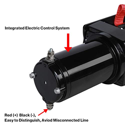 Suptools Electric Winch (3000 LBS) 12V,Single Line Heavy Duty ATV Winch with Roller Fairlead, Electric Steel Cable Winch Kit by Suptools (Image #5)