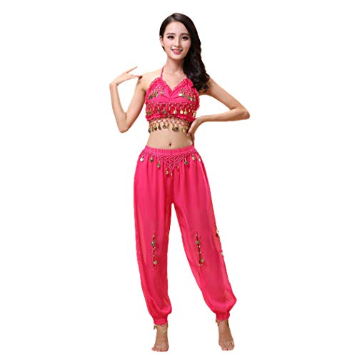 Maylong Lantern Pants Halloween Costume Belly Dance Carnival Outfit DW24 (hot Pink) ()