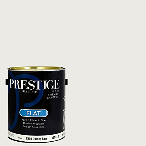 Prestige Paints Exterior Paint And Primer In One  1 Gallon  Flat   Comparable Match Of Sherwin Williams Snowbound