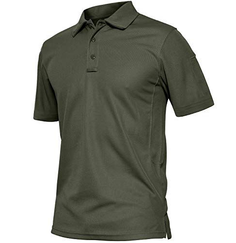 TACVASEN Men's Comfortable Polo Long Sleeve Shirt Golf Work Outdoor Shirt