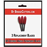 Bridge Cutters 45 Degree Angle Standard Fine Point Replacement Cutting Blades Type for Cricut Cutting Machines, 3 blades