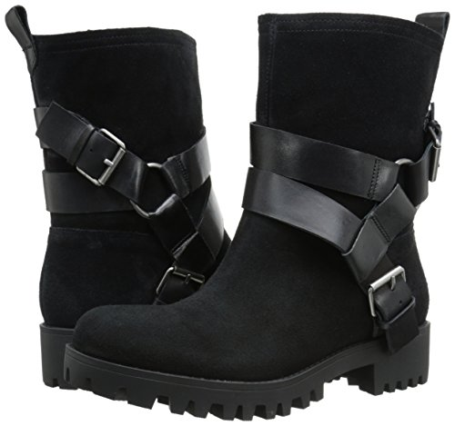 Nine Bootie Ankle West Negro Mujer negro Suede Outnup vRBvrq4