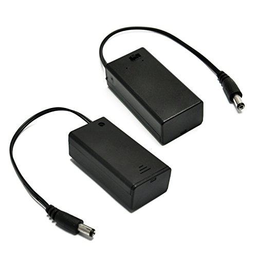 Gikfun 9v Battery Holder with ON/OFF Switch for Arduino (Pack of 2PCS) EK2107x2 ()