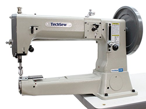 TechSew 5100 Heavy Duty Leather Industrial Sewing Machine with Assembled Table & Servo Motor by TechSew