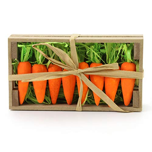 WEWILL Lifelike Thin Small Orange Foam Carrots Easter Oranment Rabbit's Gift Decoration Easter Party Home Decor (Pack of -