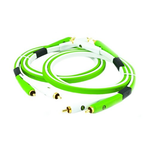 - Oyaide: Class B RCA Cables, DUO 1.0m - Green (Matching Pair)