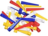 Outdoor Mix Colors 30 Pcs 70mm Golf Tees Ball Holder Flat Duckbill Ball Tees Golf Duck Tee Golf Plastic Tee Go