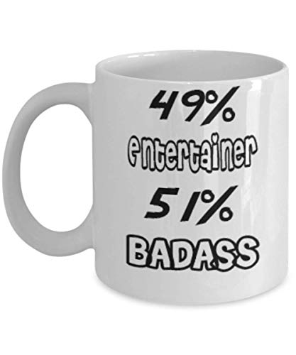 Funny Entertainer Gifts 11oz Coffee Mug - 51% BADASS - Best Inspirational Gifts and Sarcasm ak6038]()