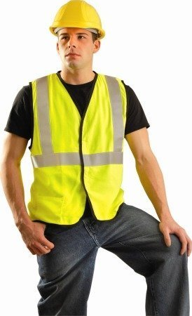 Occunomix LUX-SSG/FR-YXL Class 2 Premium Flame Resistant Single Stripe Solid Vest, HRC 1 Protection, X-Large, Yellow by Occunomix