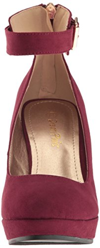 DREAM Womens 22 DREAM PAIRS Ash Wedge Burgundy PAIRS Ash Wedge Pump 22 Pump Burgundy Womens Suede Suede E8CIRqx4